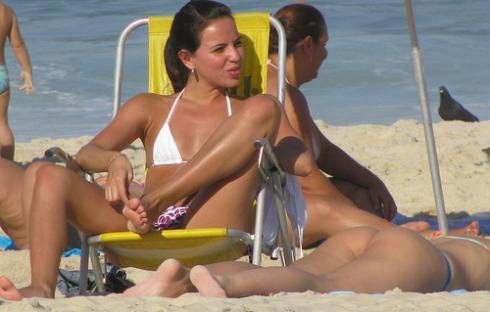 Girl @ the beach. Rio de Janeiro